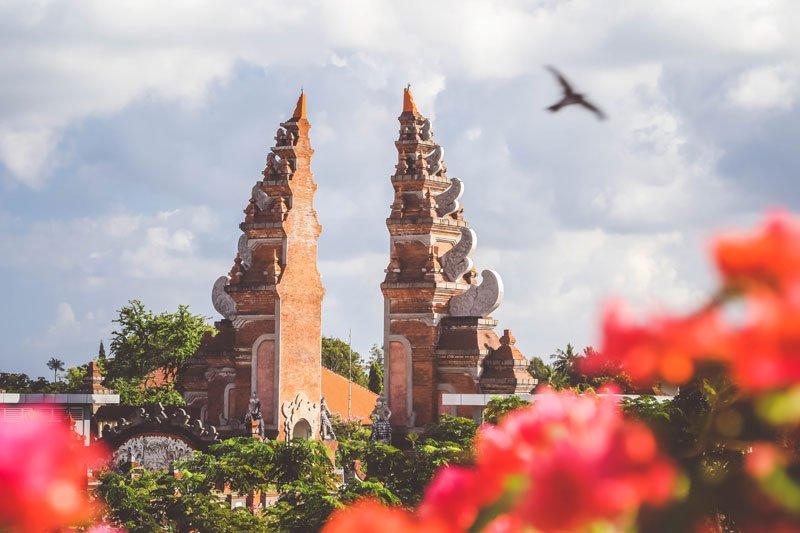 Concrete arch in Bali, Indonesia