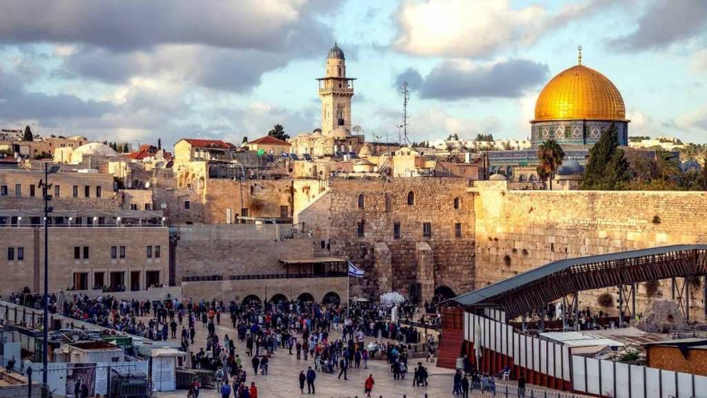 The Western Wall and Dome of the Rock in Israel