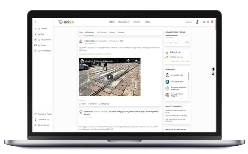 TabiFolk website on MacBook